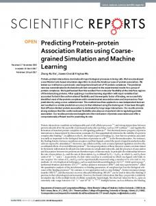 Predicting Protein–protein Association Rates using
