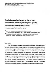 Predicting quality changes in stored grain ecosystems