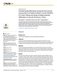 Predicting Reoffending Using the Structured Assessment of Violence ...