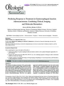 Predicting Response to Treatment in Gastroesophageal Junction ...