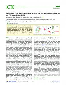 Predicting RNA Structures via a Simple van der ... - ACS Publications