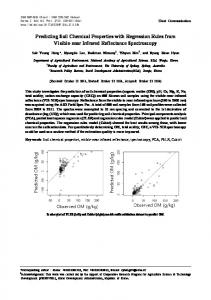Predicting Soil Chemical Properties with Regression