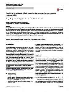 Predicting substituent effects on activation energy
