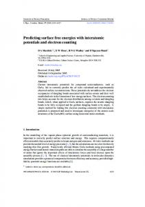 Predicting surface free energies with interatomic potentials and ...