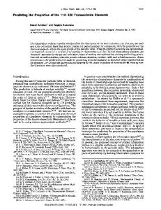 Predicting the Properties of the 11 3-120 ... - ACS Publications