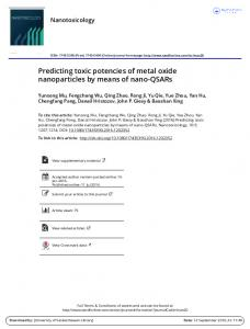 Predicting toxic potencies of metal oxide nanoparticles by means of ...