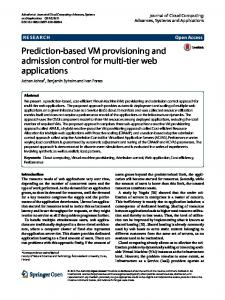 Prediction-Based VM Provisioning and Admission ...