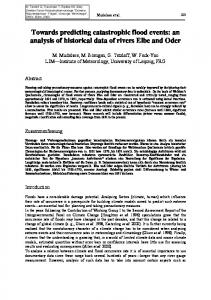 Prediction catastrophe flood events analysis ... - Manfred Mudelsee