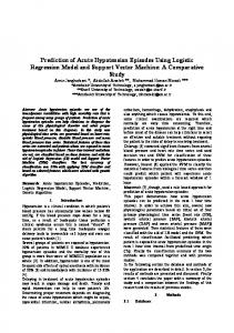 Prediction of Acute Hypotension Episodes Using Logistic Regression ...