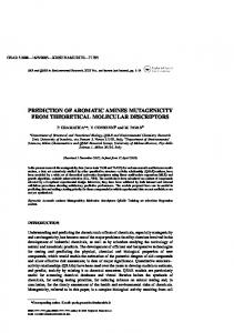 prediction of aromatic amines mutagenicity from