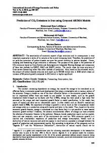 Prediction of CO2 Emissions in Iran using Grey and ... - CiteSeerX