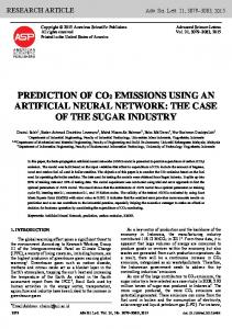 prediction of co2 emissions using an artificial neural network