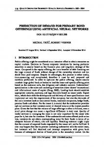 prediction of demand for primary bond offerings using artificial neural ...