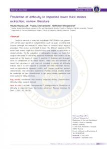 Prediction of difficulty in impacted lower third molars extraction; review ...