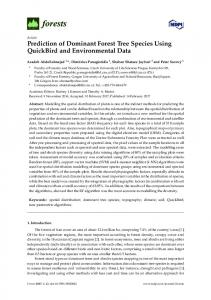 Prediction of Dominant Forest Tree Species Using QuickBird ... - MDPI