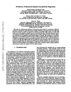 Prediction of Dynamical Systems by Symbolic Regression