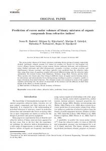 Prediction of excess molar volumes of binary mixtures of organic