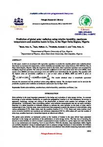 Prediction of global solar radiation using relative humidity ... - iMedPub