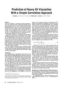 Prediction of Heavy-Oil Viscosities With a Simple Correlation Approach