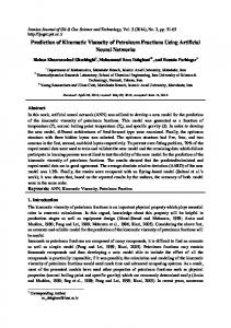 Prediction of Kinematic Viscosity of Petroleum Fractions Using Artificial ...