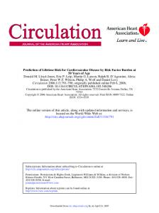 Prediction of Lifetime Risk for Cardiovascular Disease by Risk Factor ...