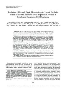 Prediction of Lymph Node Metastasis with Use of Artificial Neural ...
