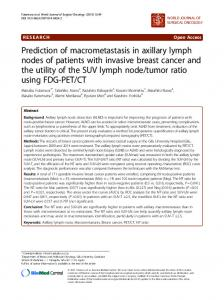 Prediction of macrometastasis in axillary lymph nodes of patients with ...