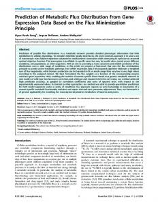 Prediction of Metabolic Flux Distribution from Gene ... - BHSAI