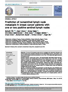 Prediction of nonsentinel lymph node metastasis in breast ... - Core