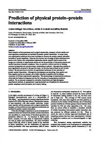 Prediction of physical protein-protein interactions - SziAlab.org
