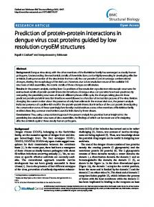 Prediction of protein-protein interactions in dengue virus coat proteins ...
