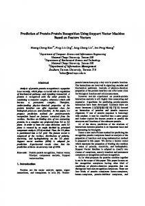 Prediction of Protein-Protein Recognition Using ...