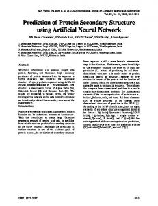 Prediction of Protein Secondary Structure using Artificial Neural Network