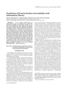 Prediction of Protein Surface Accessibility with Information ... - CiteSeerX