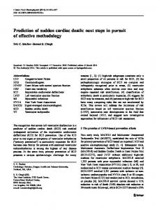 Prediction of sudden cardiac death - BioMedSearch