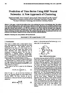 Prediction of Time Series Using RBF Neural Networks: A New ...