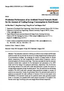 Prediction Performance of an Artificial Neural Network Model for the ...