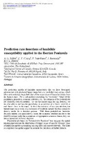 Prediction rate functions of landslide susceptibility ...