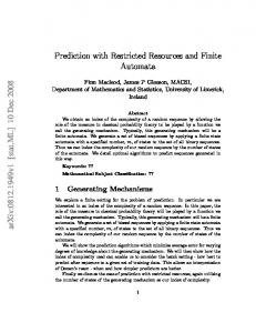 Prediction with Restricted Resources and Finite Automata