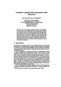 Predictive Labeling with Dependency Pairs using ... - Semantic Scholar