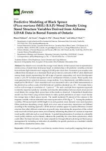 Predictive Modeling of Black Spruce (Picea mariana (Mill.) B.S.P. ...