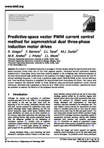 Predictive-space vector PWM current control method for ... - IEEE Xplore