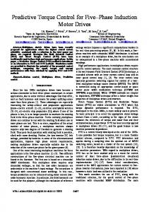 Predictive torque control for five-phase induction motor ... - IEEE Xplore