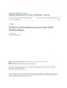 Predictors of introduction success in the South Florida ... - CiteSeerX