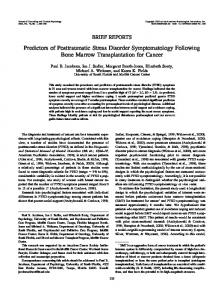 Predictors of Posttraumatic Stress Disorder ... - Semantic Scholar