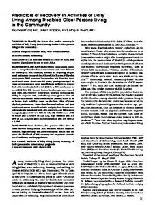 Predictors of Recovery in Activities of Daily ... - Wiley Online Library