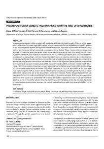 predisposition of genetic polymorphism with the risk of ... - Springer Link