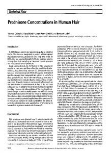 Prednisone Concentrations in Human Hair