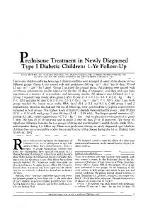 p.rednisone Treatment in Newly Diagnosed Type I ... - Diabetes Care