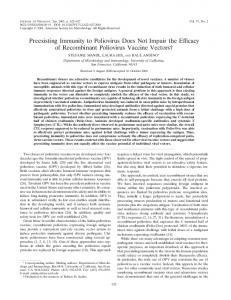 Preexisting Immunity to Poliovirus Does Not ... - Journal of Virology